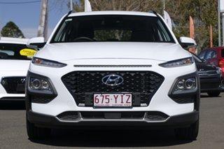 2017 Hyundai Kona OS MY18 Active D-CT AWD Chalk White 7 Speed Sports Automatic Dual Clutch Wagon