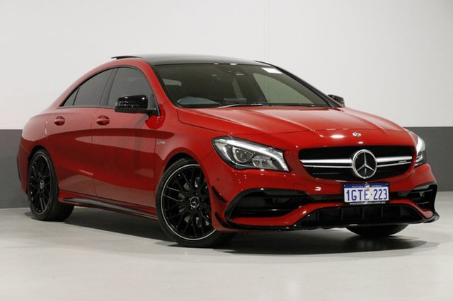 Used Mercedes-Benz CLA45 C117 807MY AMG SPEEDSHIFT DCT 4MATIC, 2017 Mercedes-Benz CLA45 C117 807MY AMG SPEEDSHIFT DCT 4MATIC Red 7 Speed