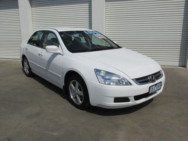 Used Honda Accord 7th Gen VTi, 2005 Honda Accord 7th Gen VTi White 5 Speed Automatic Sedan