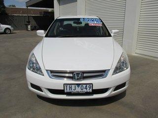 2005 Honda Accord 7th Gen VTi White 5 Speed Automatic Sedan.
