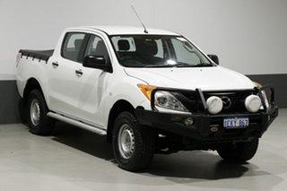 2013 Mazda BT-50 MY13 XT (4x4) White 6 Speed Manual Dual Cab Utility