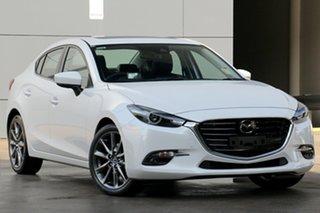 2019 Mazda 3 BN5238 SP25 SKYACTIV-Drive Astina Snowflake White 6 Speed Sports Automatic Sedan.