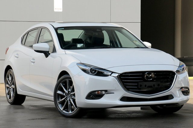 New Mazda 3 BN5238 SP25 SKYACTIV-Drive Astina, 2019 Mazda 3 BN5238 SP25 SKYACTIV-Drive Astina Snowflake White 6 Speed Sports Automatic Sedan