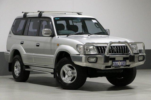 Used Toyota Landcruiser Prado VZJ95R GXL (4x4), 2001 Toyota Landcruiser Prado VZJ95R GXL (4x4) White 4 Speed Automatic 4x4 Wagon