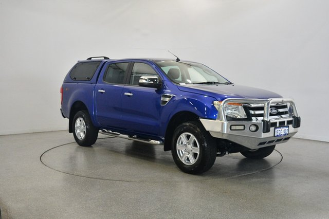 Used Ford Ranger PX XLT Double Cab, 2013 Ford Ranger PX XLT Double Cab Aurora Blue 6 Speed Manual Utility