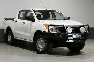 2013 Mazda BT-50 MY13 XT (4x4) White 6 Speed Manual Dual Cab Utility.