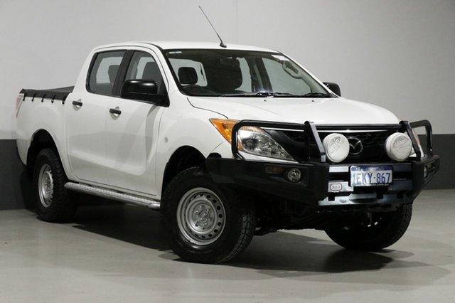 Used Mazda BT-50 MY13 XT (4x4), 2013 Mazda BT-50 MY13 XT (4x4) White 6 Speed Manual Dual Cab Utility
