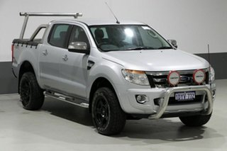 2012 Ford Ranger PX XLT 3.2 (4x4) Silver 6 Speed Manual Dual Cab Utility