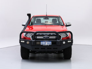 2015 Ford Ranger PX MkII XLT 3.2 (4x4) Red 6 Speed Automatic Dual Cab Utility.