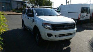 2014 Ford Ranger PX XL Double Cab 4x2 Hi-Rider Cool White 6 Speed Sports Automatic Utility.