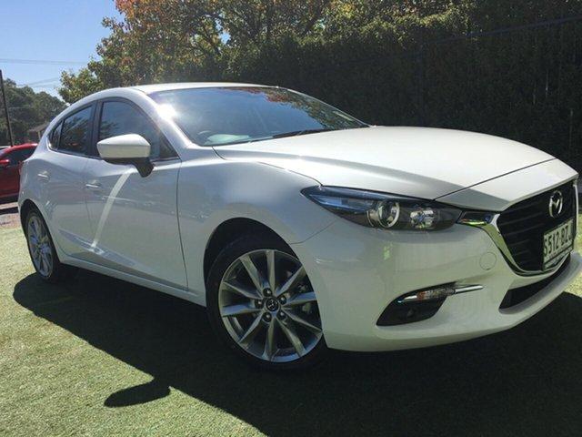 Demo Mazda 3 BN5436 SP25 SKYACTIV-MT, 2018 Mazda 3 BN5436 SP25 SKYACTIV-MT White Pearl 6 Speed Manual Hatchback