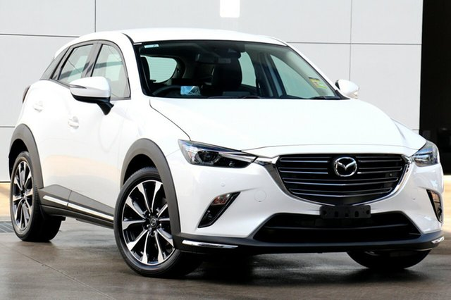 New Mazda CX-3 DK4W7A sTouring SKYACTIV-Drive i-ACTIV AWD, 2019 Mazda CX-3 DK4W7A sTouring SKYACTIV-Drive i-ACTIV AWD Snowflake White 6 Speed Sports Automatic