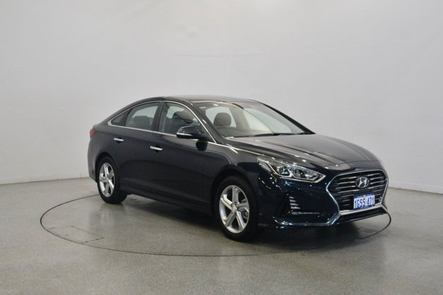 Used Hyundai Sonata LF4 MY18 Active, 2017 Hyundai Sonata LF4 MY18 Active Blue 6 Speed Sports Automatic Sedan