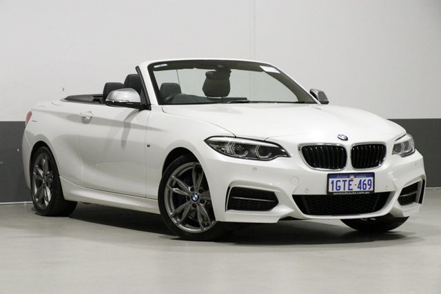 Used BMW M240i F23 MY18 M240I, 2018 BMW M240i F23 MY18 M240I White 8 Speed Automatic Convertible
