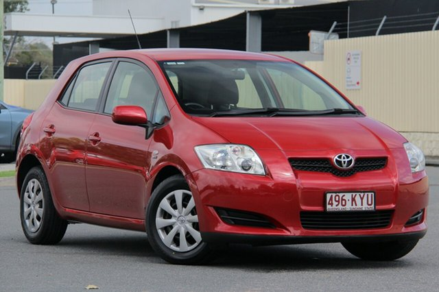 Used Toyota Corolla ZRE152R Ascent, 2007 Toyota Corolla ZRE152R Ascent Red 4 Speed Automatic Hatchback