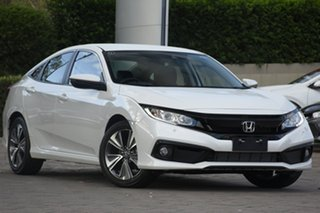 2019 Honda Civic Platinum White Automatic Hatchback.