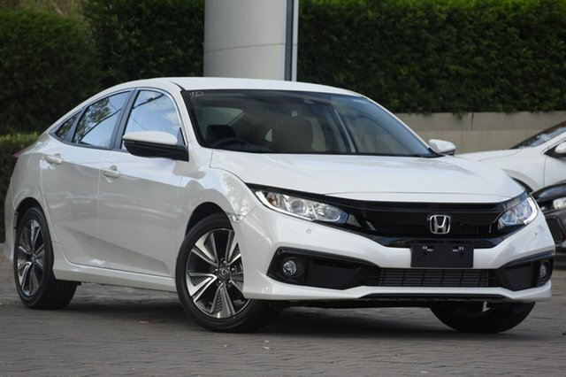 New Honda Civic 10th Gen MY20 VTi-L North Lakes, 2020 Honda Civic 10th Gen MY20 VTi-L Platinum White 1 Speed Constant Variable Sedan