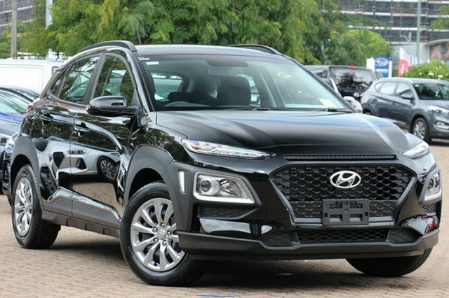 New Hyundai Kona OS.2 MY19 Go 2WD, 2018 Hyundai Kona OS.2 MY19 Go 2WD Phantom Black Pearl 6 Speed Sports Automatic Wagon