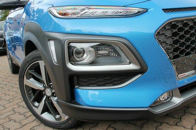 New Hyundai Kona  Highlander, 2018 Hyundai Kona HIGHLANDER Highlander Blue Lagoon & Phantom Black Roof 6 Speed Automatic Hatchback