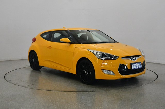 Used Hyundai Veloster FS2 Coupe D-CT, 2013 Hyundai Veloster FS2 Coupe D-CT Yellow 6 Speed Sports Automatic Dual Clutch Hatchback