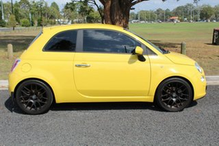 2007 Fiat 500 POP Yellow Manual Hatchback.
