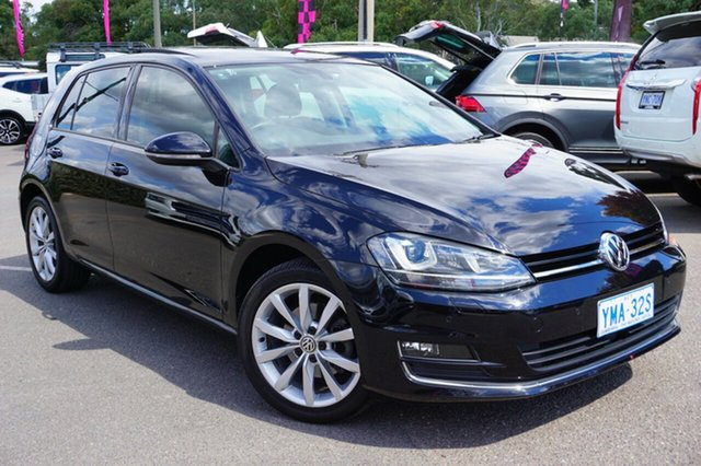Used Volkswagen Golf VII MY15 103TSI DSG Highline, 2015 Volkswagen Golf VII MY15 103TSI DSG Highline Black 7 Speed Sports Automatic Dual Clutch