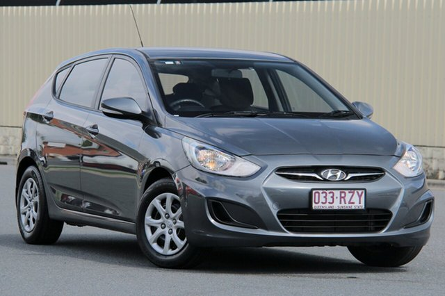 Used Hyundai Accent RB Active, 2012 Hyundai Accent RB Active Grey 4 Speed Sports Automatic Hatchback