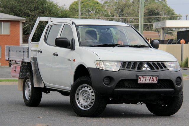 Used Mitsubishi Triton ML MY08 GLX Double Cab 4x2, 2008 Mitsubishi Triton ML MY08 GLX Double Cab 4x2 White 4 Speed Automatic Utility
