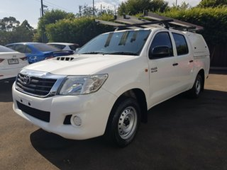 2013 Toyota Hilux KUN16R MY12 SR White 5 Speed Manual Cab Chassis.
