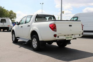 2013 Mitsubishi Triton MN MY14 GLX Double Cab White 4 Speed Sports Automatic Utility