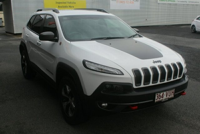 Used Jeep Cherokee KL MY15 Trailhawk, 2015 Jeep Cherokee KL MY15 Trailhawk White 9 Speed Sports Automatic Wagon