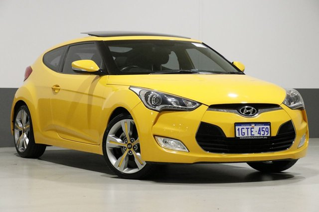 Used Hyundai Veloster FS +, 2012 Hyundai Veloster FS + Yellow 6 Speed Manual Coupe