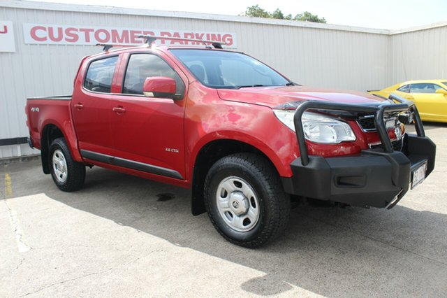 Used Holden Colorado RG MY13 LX Crew Cab, 2012 Holden Colorado RG MY13 LX Crew Cab Red 5 Speed Manual Utility