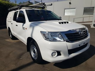 2013 Toyota Hilux KUN16R MY12 SR White 5 Speed Manual Cab Chassis