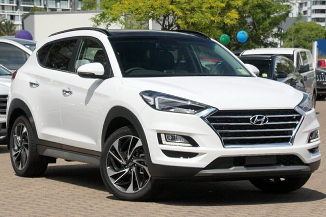 New Hyundai Tucson TL3 MY19 Highlander AWD, 2018 Hyundai Tucson TL3 MY19 Highlander AWD Pure White 8 Speed Sports Automatic Wagon