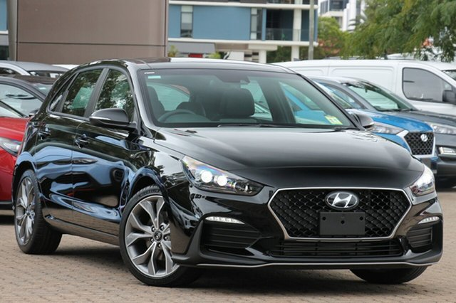 New Hyundai i30 PD.3 MY19 N Line D-CT Premium, 2018 Hyundai i30 PD.3 MY19 N Line D-CT Premium Phantom Black 7 Speed Error Hatchback