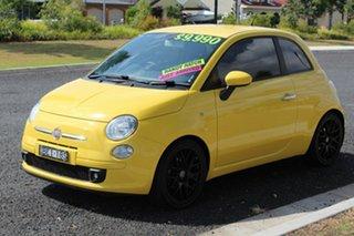 2007 Fiat 500 POP Yellow Manual Hatchback