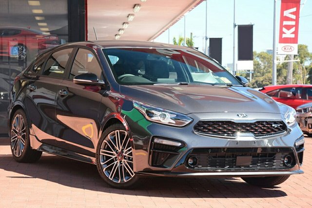 New Kia Cerato BD MY19 GT DCT, 2019 Kia Cerato BD MY19 GT DCT Graphite 7 Speed Sports Automatic Dual Clutch Hatchback