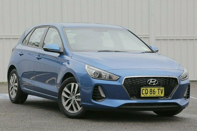 Used Hyundai i30 PD2 Active, 2018 Hyundai i30 PD2 Active Blue 7 Speed Sports Automatic Dual Clutch Hatchback