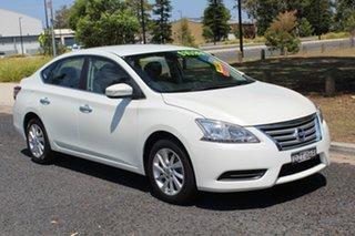 2013 Nissan Pulsar B17 ST White Constant Variable Sedan.