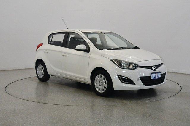 Used Hyundai i20 PB MY13 Active, 2013 Hyundai i20 PB MY13 Active White 4 Speed Automatic Hatchback