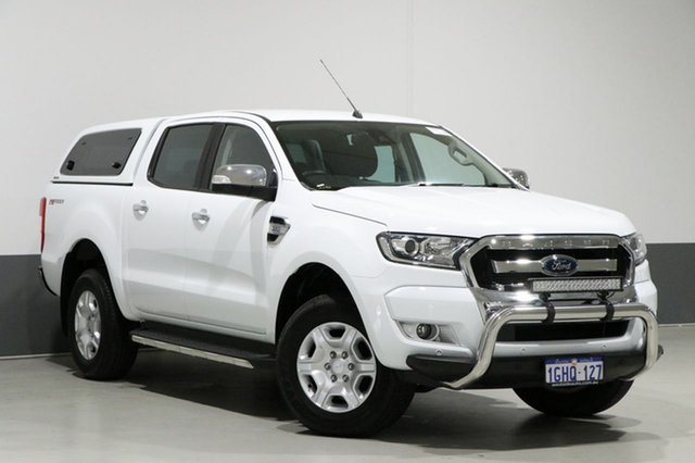 Used Ford Ranger PX MkII MY17 Update XLT 3.2 Hi-Rider (4x2), 2017 Ford Ranger PX MkII MY17 Update XLT 3.2 Hi-Rider (4x2) White 6 Speed Manual Crew Cab Pickup