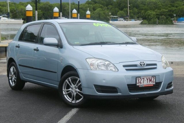 Used Toyota Corolla ZZE122R 5Y Ascent, 2005 Toyota Corolla ZZE122R 5Y Ascent Blue 4 Speed Automatic Hatchback