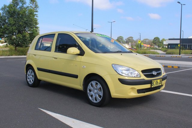 Used Hyundai Getz TB MY09 SX, 2009 Hyundai Getz TB MY09 SX Yellow 4 Speed Automatic Hatchback