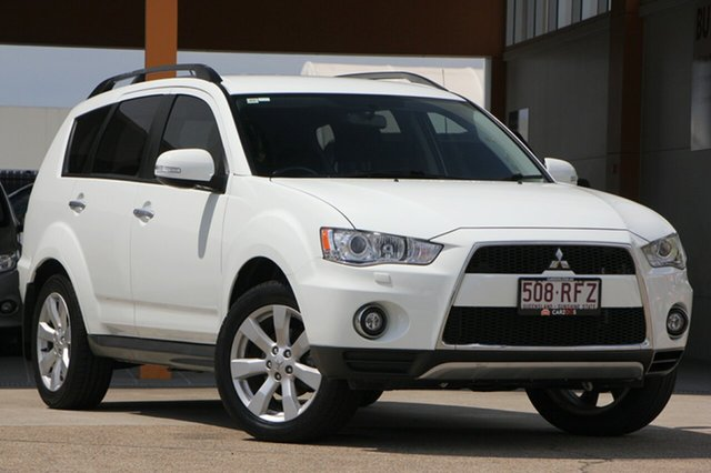 Used Mitsubishi Outlander ZH MY10 XLS, 2010 Mitsubishi Outlander ZH MY10 XLS White 6 Speed Constant Variable Wagon