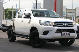 2016 Toyota Hilux GUN126R SR Double Cab White 6 Speed Sports Automatic Utility.