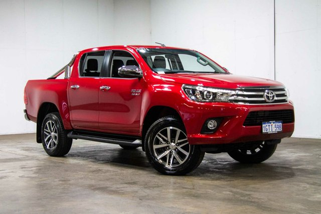 Used Toyota Hilux GUN126R SR5 Double Cab, 2018 Toyota Hilux GUN126R SR5 Double Cab Red 6 Speed Sports Automatic Utility