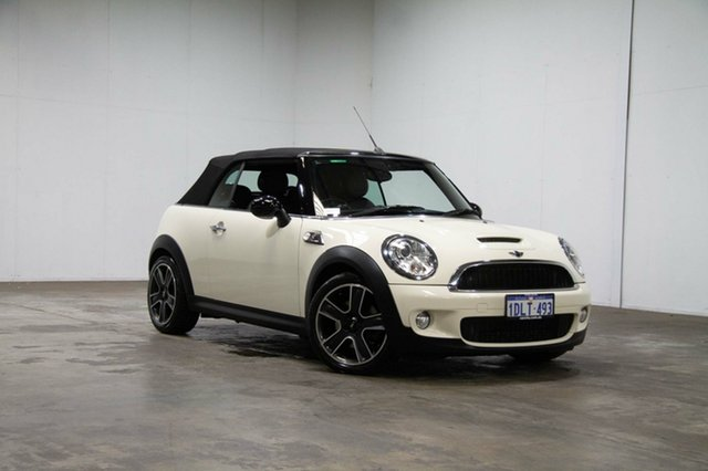 Used Mini Cabrio R57 MY09 Cooper S Steptronic, 2010 Mini Cabrio R57 MY09 Cooper S Steptronic White 6 Speed Sports Automatic Convertible