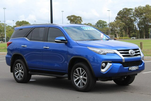 Used Toyota Fortuner GUN156R Crusade, 2016 Toyota Fortuner GUN156R Crusade Blue 6 Speed Automatic Wagon