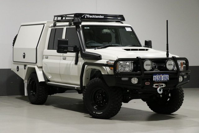 Used Toyota Landcruiser LC70 VDJ79R MY17 GXL (4x4), 2016 Toyota Landcruiser LC70 VDJ79R MY17 GXL (4x4) White 5 Speed Manual Double Cab Chassis